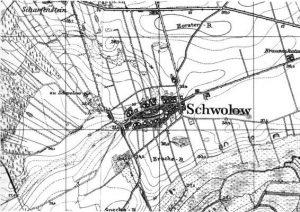 Mapa Swołowa z okresu międzywojennego XX w.