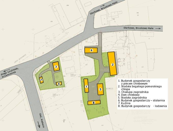 Szkic sytuacyjny pokazujący lokalizację inwestycji